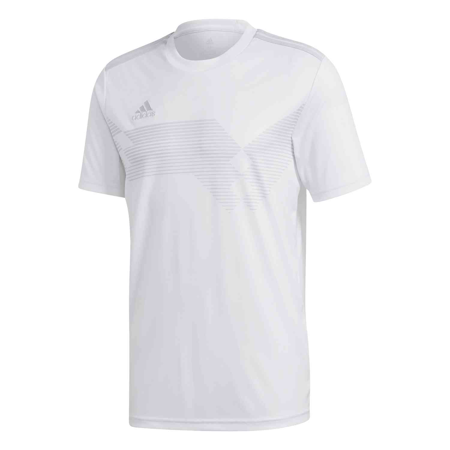 adidas Campeon 19 Jersey - White/Clear Grey - SoccerPro