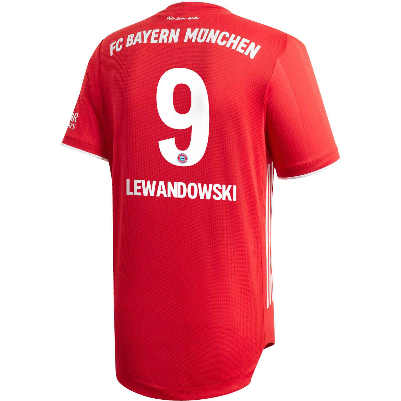 2020/21 adidas Robert Lewandowski Bayern Munich Home Authentic ...