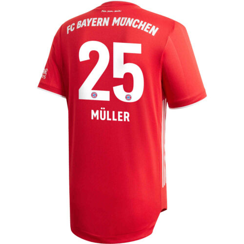2020/21 adidas Thomas Muller Bayern Munich Home Authentic Jersey