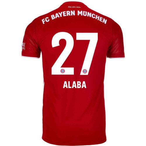 2020/21 Kids adidas David Alaba Bayern Munich Home Jersey