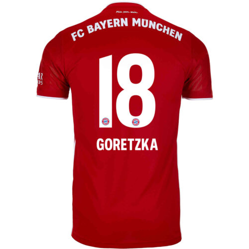 2020/21 Kids adidas Leon Goretzka Bayern Munich Home Jersey