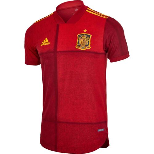 2020 adidas Spain Home Authentic Jersey