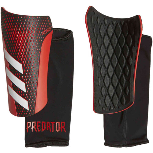 adidas Predator League Shin Guards – Black & Active Red