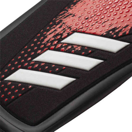 adidas Predator Pro Shin Guards – Black & Active Red