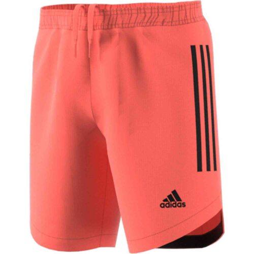 Kids adidas Condivo 20 Team Goalkeeper Shorts – Signal Coral/Black