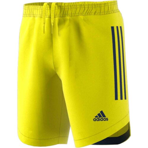 Kids adidas Condivo 20 Team Goalkeeper Shorts – Shock Yellow/Team Navy Blue