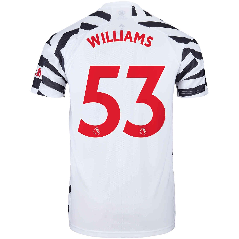 2020/21 Kids adidas Brandon Williams Manchester United 3rd Jersey ...