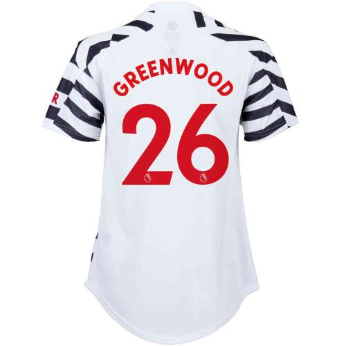2020/21 Womens adidas Mason Greenwood Manchester United 3rd Jersey