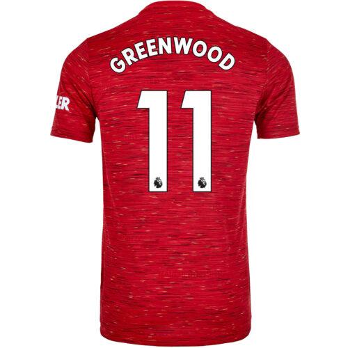 2020/21 Kids adidas Mason Greenwood Manchester United Home Jersey