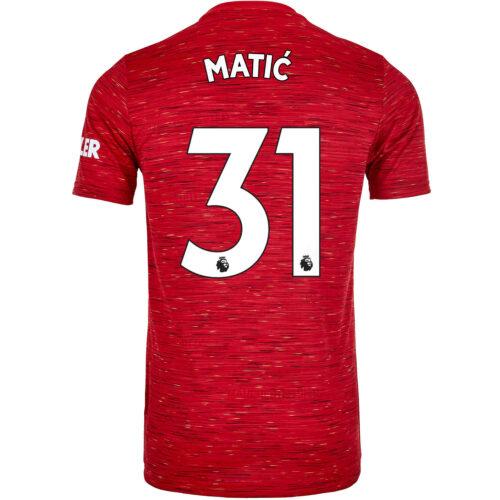 2020/21 Kids adidas Nemanja Matic Manchester United Home Jersey