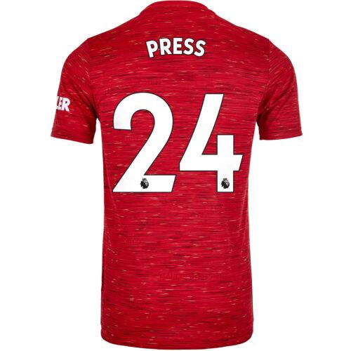 2020/21 Kids adidas Christen Press Manchester United Home Jersey