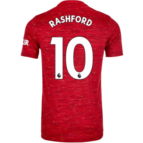 2020/21 Kids adidas Marcus Rashford Manchester United Home Jersey