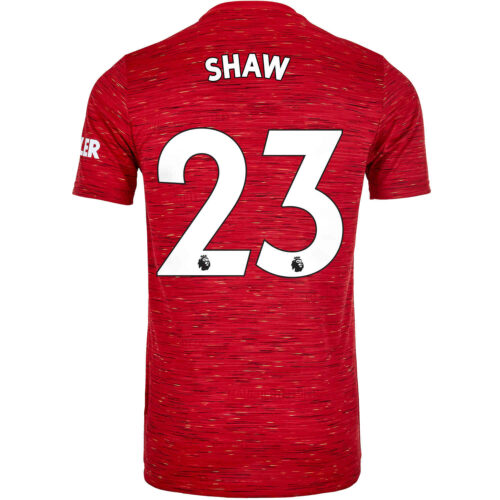 2020/21 Kids adidas Luke Shaw Manchester United Home Jersey
