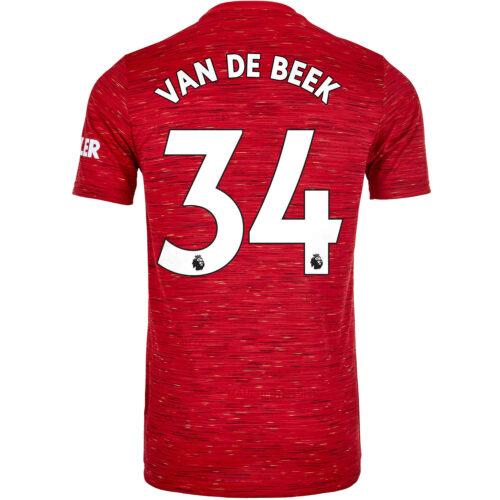 2020/21 Kids adidas Donny van de Beek Manchester United Home Jersey