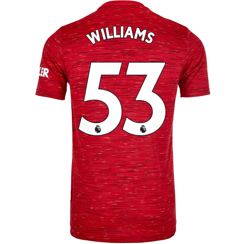 2020/21 Kids adidas Brandon Williams Manchester United Home Jersey ...