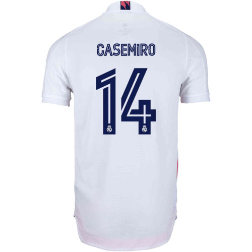 2020/21 adidas Casemiro Real Madrid Home Authentic Jersey