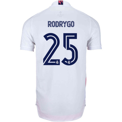2020/21 adidas Rodrygo Real Madrid Home Authentic Jersey