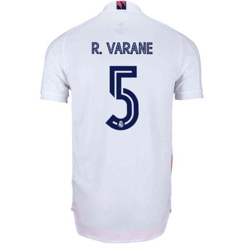 2020/21 adidas Raphael Varane Real Madrid Home Authentic Jersey