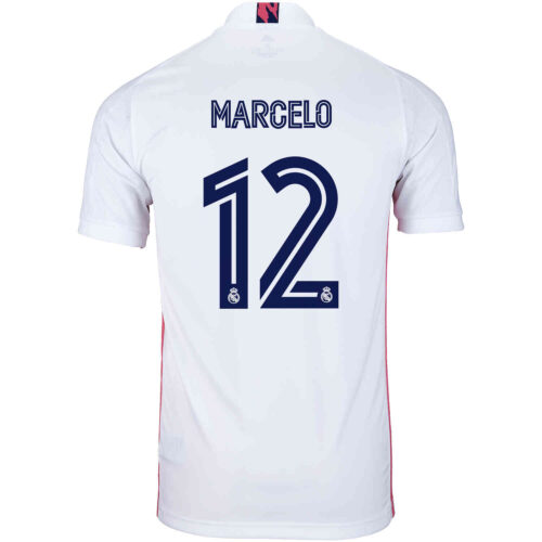 2020/21 Kids adidas Marcelo Real Madrid Home Jersey