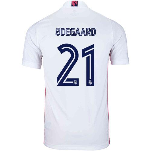 2020/21 Kids adidas Martin Odegaard Real Madrid Home Jersey