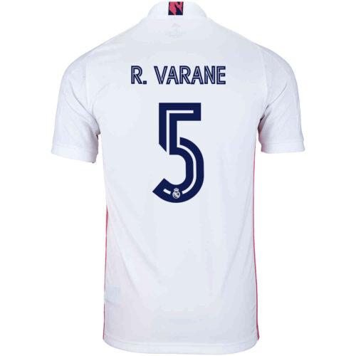 2020/21 Kids adidas Raphael Varane Real Madrid Home Jersey