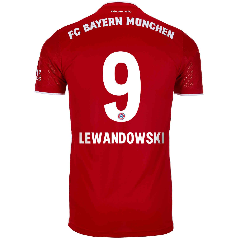 2020/21 adidas Robert Lewandowski Bayern Munich Home ...