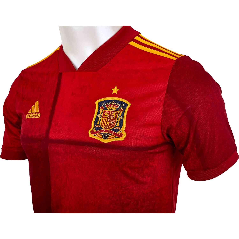 2020 adidas Spain Home Jersey - SoccerPro