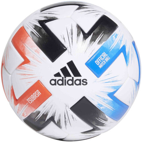 adidas Tsubasa Pro Official Match Soccer Ball – White & Solar Red with Glory Blue with Black