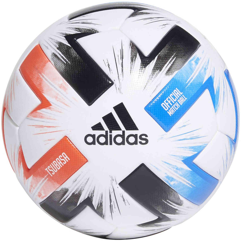 Regularmente Raza humana Aplicando  adidas Tsubasa Pro Official Match Soccer Ball - White & Solar Red with  Glory Blue with Black - SoccerPro