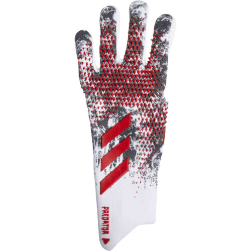 adidas Manuel Neuer Predator Pro Negative Cut Goalkeeper Gloves – White & Black with Active Red