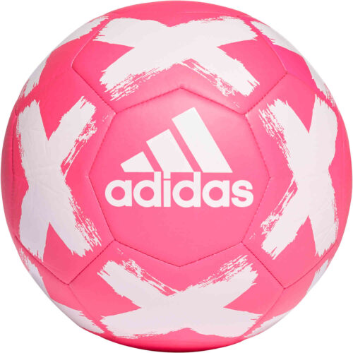 adidas Starlancer V Club Soccer Ball – Shock Pink & White