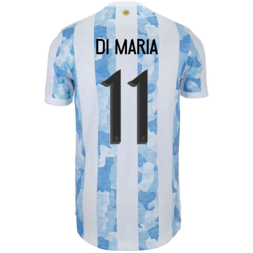 2021 adidas Angel Di Maria Argentina Home Authentic Jersey