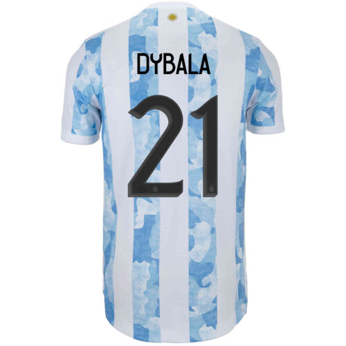 2021 adidas Paulo Dybala Argentina Home Authentic Jersey