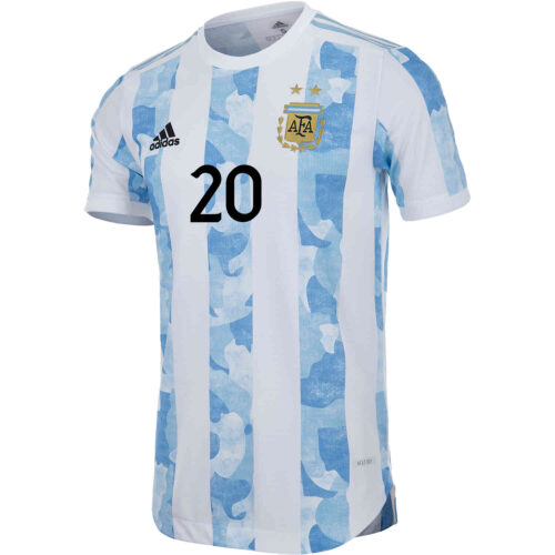 2021 adidas Giovani Lo Celso Argentina Home Authentic Jersey