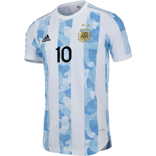 2021 adidas Lionel Messi Argentina Home Authentic Jersey