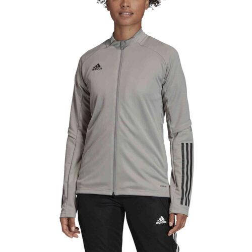 Womens adidas Condivo 20 Training Jacket – Team Mid Grey