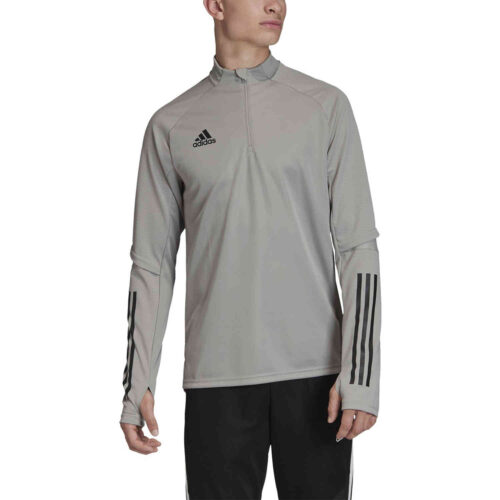 adidas Condivo 20 1/4 zip Training Top – Team Mid Grey