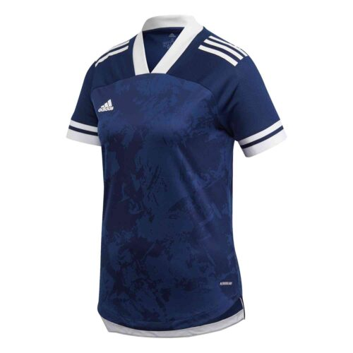 Womens adidas Condivo 20 Jersey – Team Navy Blue/White