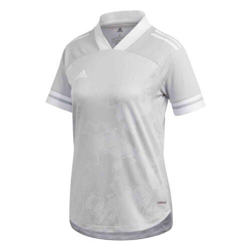 Womens adidas Condivo 20 Jersey – Team Light Grey/White