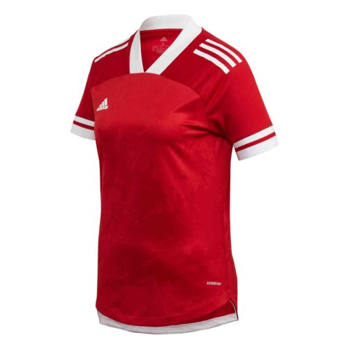 Womens adidas Condivo 20 Jersey – Team Power Red/White