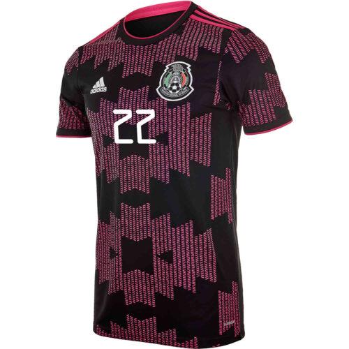 2021 Kids adidas Hirving Lozano Mexico Home Jersey
