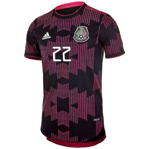 2021 adidas Hirving Lozano Mexico Home Authentic Jersey