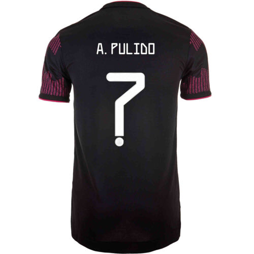 2021 adidas Alan Pulido Mexico Home Authentic Jersey