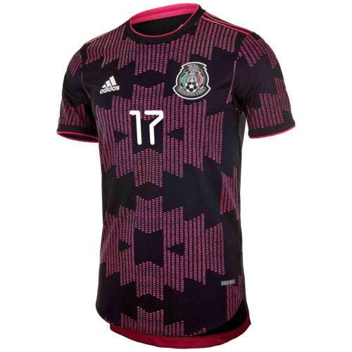 2021 adidas Tecatito Mexico Home Authentic Jersey