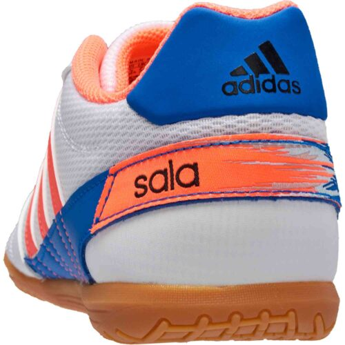 adidas Super Sala IN – Footwear White/Signal Coral/Glory Blue