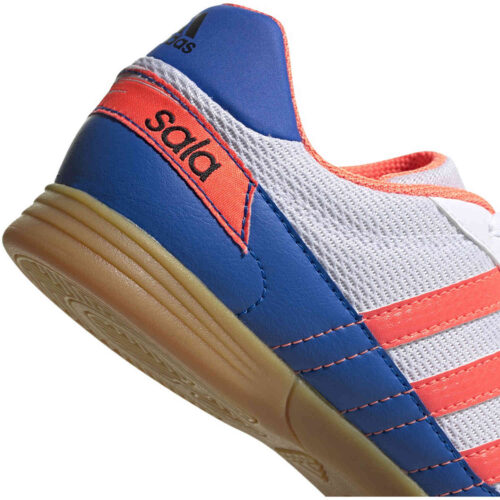 Kids adidas Super Sala IN – ftwr white/signal coral/glory blue