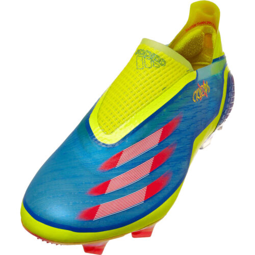 adidas x Marvel X-Men X Ghosted+ FG – Blue & Vivid Red with Bright Yellow