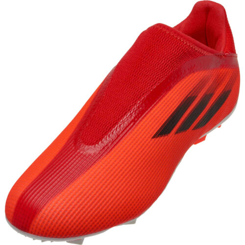 Kids adidas Laceless X Speedflow.3 FG – Meteorite
