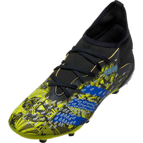Kids adidas x Marvel X-Men Predator Freak.3 FG – Bright Yellow & Blue with Core Black