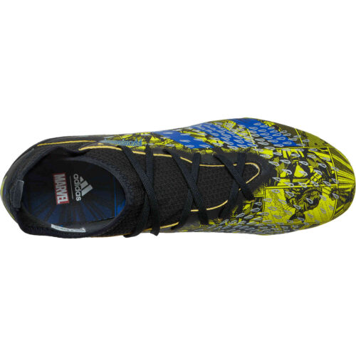Kids adidas x Marvel X-Men Predator Freak.3 FG – Bright Yellow & Blue with Core Black